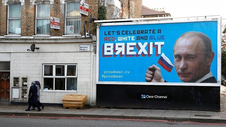 بيلبورد پوتین در خیابانهای لندن