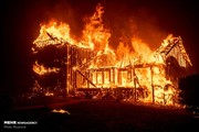 تصاویر آتش سوزی گسترده در کالیفرنیا