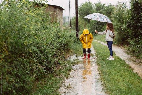 کودک و باران ...