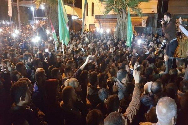 جشن پيروزي فلسطيني ها در غزه