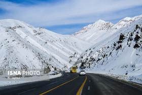بارش برف در برخی محورهای شمالی کشور