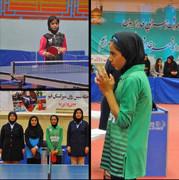 نیلیا نقیبی قهرمان تور ایرانی تنیس روی میز هوپس دختران کشور شد