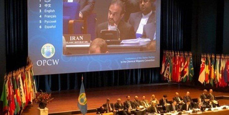 پاسخ ایران به ادعاهای بی اساس آمریکا، در کنفرانس منع سلاح های شیمیایی