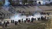 پرتاب گاز اشکآور به مهاجران در مرز مکزیک و آمریکا