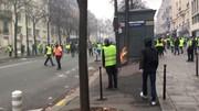 تظاهرات جلیقهزردها در شانزهلیزه بار دیگر به خشونت کشیده شد
