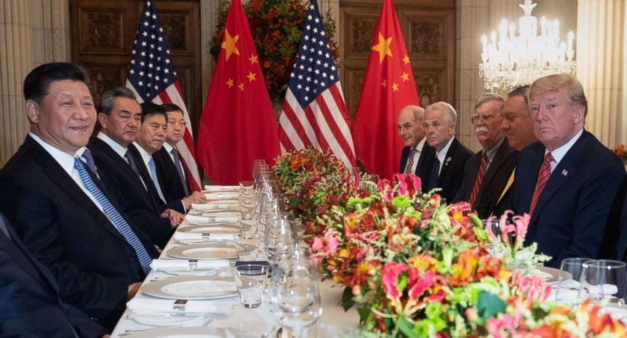 جلسه روساي جمهور آمريكا و چين