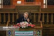 تصاویر نشست خبری رییس مجلس شورای اسلامی