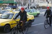 دوچرخهسواری حناچی در سهشنبههای بدون خودرو