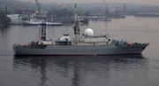 گشت زنی ناوشکن آمریکایی در اطراف پایگاه دریایی روسیه