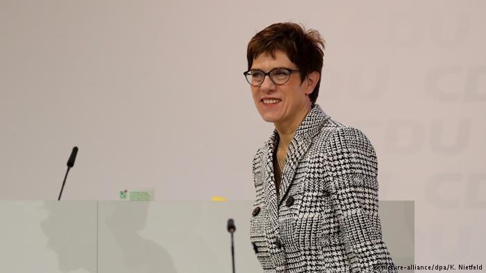 خانم آنهگرت کرامپ کارنباوئر رهبر جديد حزب دمكرات مسيحي آلمان