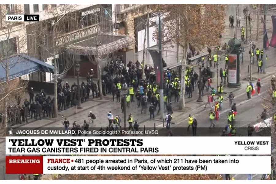 اعتراض در فرانسه
