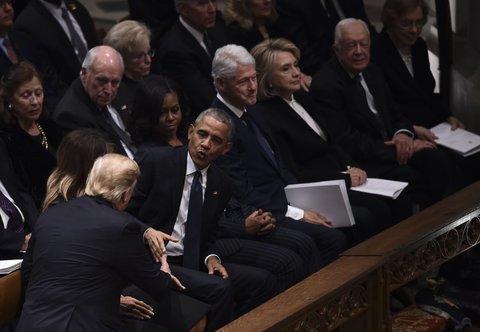 آمریکا - اوباما و دیدن ترامپ