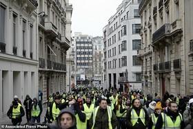 جلیقه زردها در پنجمین شنبه اعتراضی   پلیس فرانسه دهها نفر را بازداشت کرد