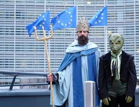 عکس روز: پوزیدون در بروکسل