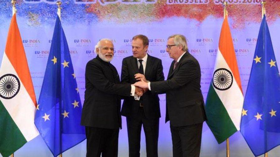رهبران اتحاديه اروپا و هند