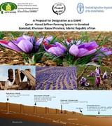ثبت جهانی نظام زراعت زعفران مبتنی بر قنات ایران با پایلوت روستای سنو شهرستان گناباد