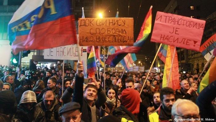 تظاهرات ضد دولتی در بلگراد