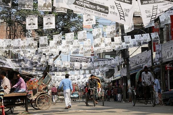 تبليغات انتخابات بنگلادش