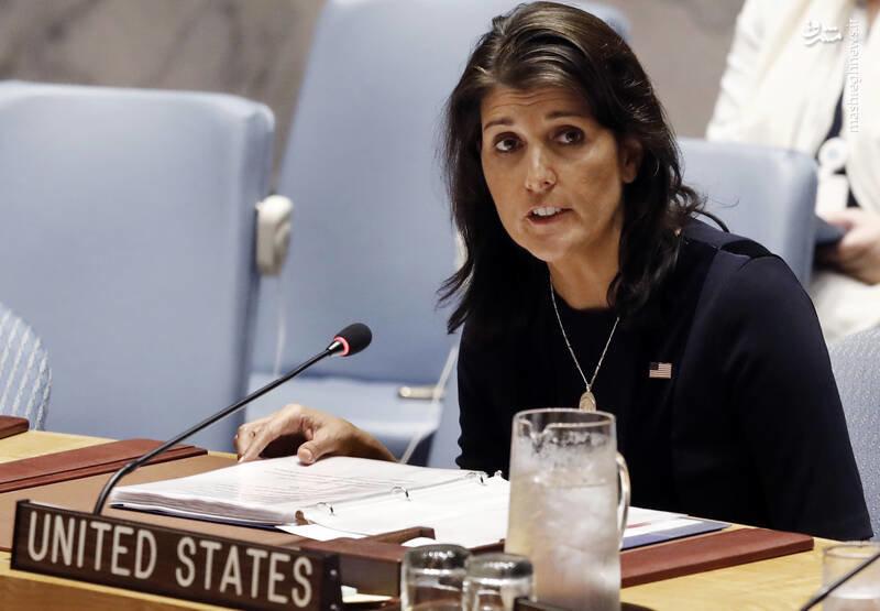 عکس/ اسباب کشی نیک هیلی از سازمان ملل