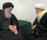 دیدار شیخ عیسی قاسم با آیتالله سیستانی و رهبران مقاومت عراق