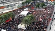 گسترش اعتراضات در تونس در سومین شب متوالی