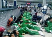 گرفتاری تیم فوتبال عراق در فرودگاه مسقط