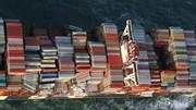 سقوط صدها کانتینر از یک کشتی باری سوئیسی به دریای شمال
