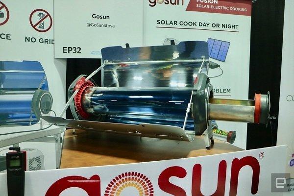اين اجاق خورشیدی قابل حمل گوشی را هم شارژ می کند