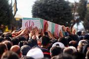 پیکر مطهر شهید نیروی انتظامی در مهاباد تشییع شد