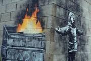 اسباب کشی نقاشی دیواری بنکسی