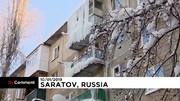عکس | خانههای قندیل بسته از سرما در روسیه