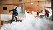 برف سنگین بخشهایی از اروپا را فلج کرد