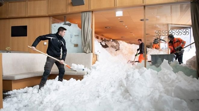 برف سنگين در اروپا