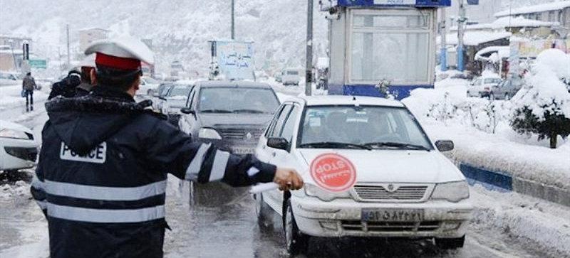 جاده برف پليس