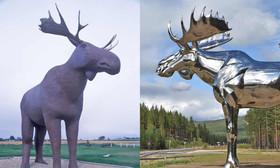 رقابت نروژ و کانادا بر سر رکورد بلندترین تندیس گوزن شمالی