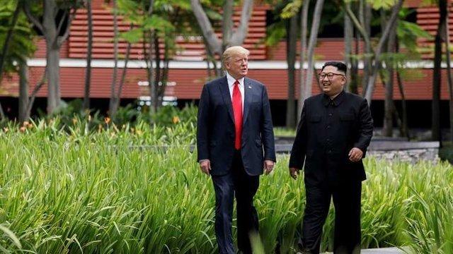 كيم جونگ اون و ترامپ