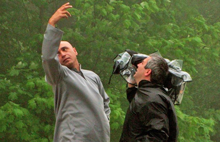 ابراهيم حاتمي كيا و حميد فرخ نژاد در سريال حلقه سبز