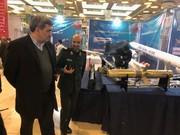 بازدید حناچی از نمایشگاه دستاوردهای دفاعی جمهوری اسلامی