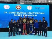 تیم کشتی فرنگی ایران به عنوان نایب قهرمانی جام وهبی امره ترکیه دست یافت