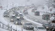 ترافیک نیمهسنگین در آزادراه کرج-تهران | بارش برف و باران در ۷ استان