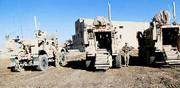 استقرار ادوات نظامی آمریکا در مرز عراق با سوریه
