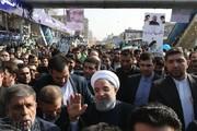 رییس جمهوری در جمع راهپیمایان ۲۲ بهمن پیوست
