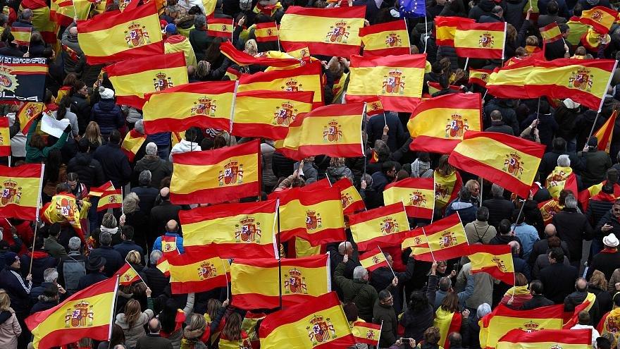 تظاهرات راستگرايان اسپانيا