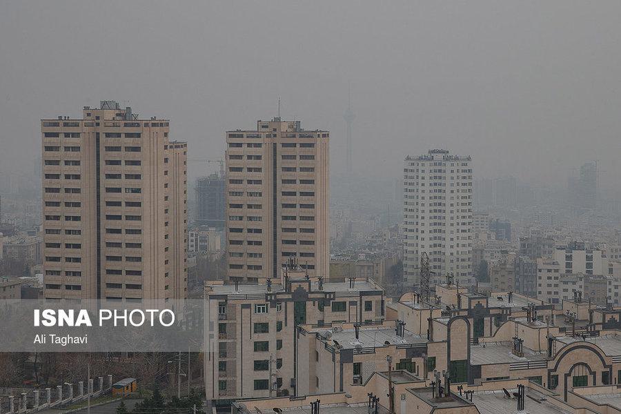 هوای تهران در آستانه شرایط نامطلوب برای گروههای حساس