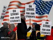عکس | اعتصاب معلمان در آمریکا
