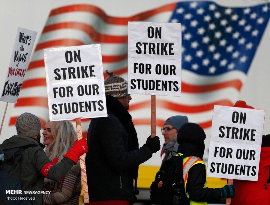 اعتصاب معلمان امریکا