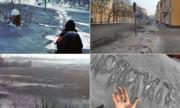 بارش برف سیاهِ سمی در خیابانهای سیبری