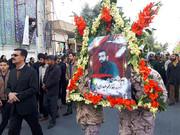 پیکر شهید حادثه تروریستی نیکشهر در زاهدان تشییع شد
