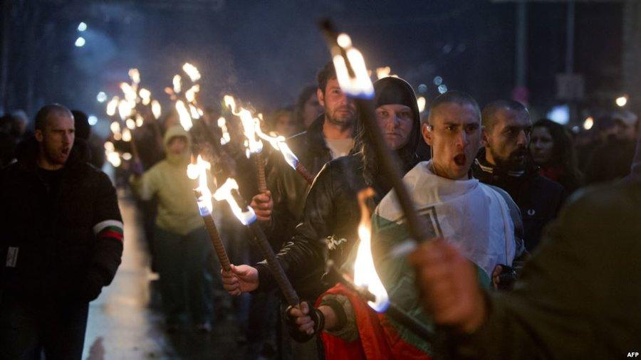 تجمع طرفداران راست افراطي در بلغارستان