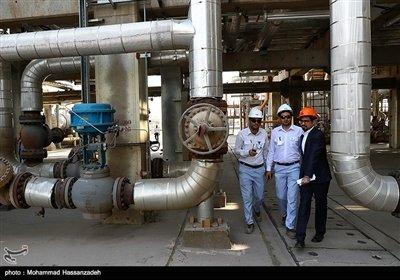 بازدید خبرنگاران پالایشگاه میعانات گازی ستاره خلیج فارس شهر بندرعباس